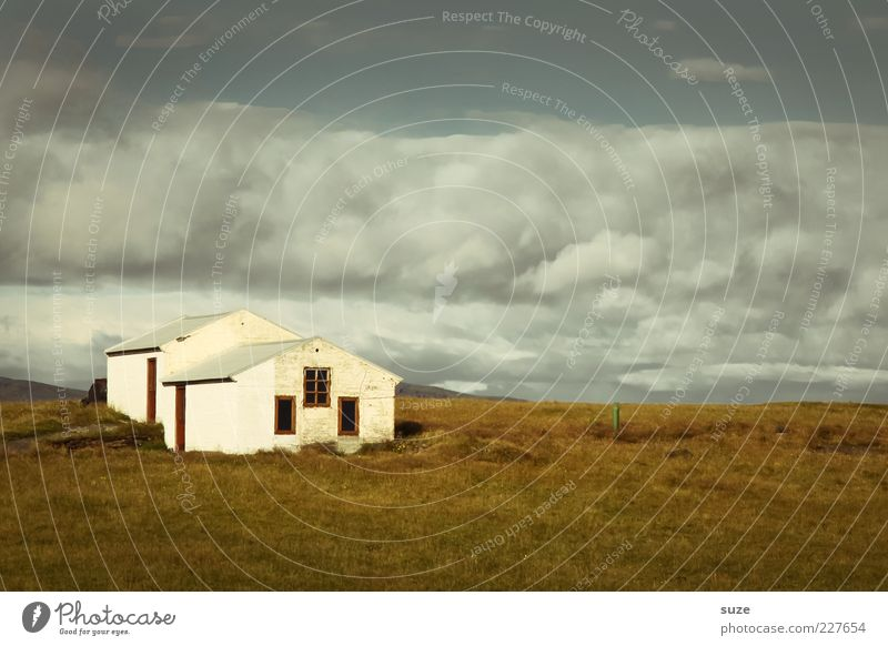 Sky Nature Old Vacation & Travel White Summer Loneliness Clouds Landscape House (Residential Structure) Environment Window Meadow Freedom Horizon Weather