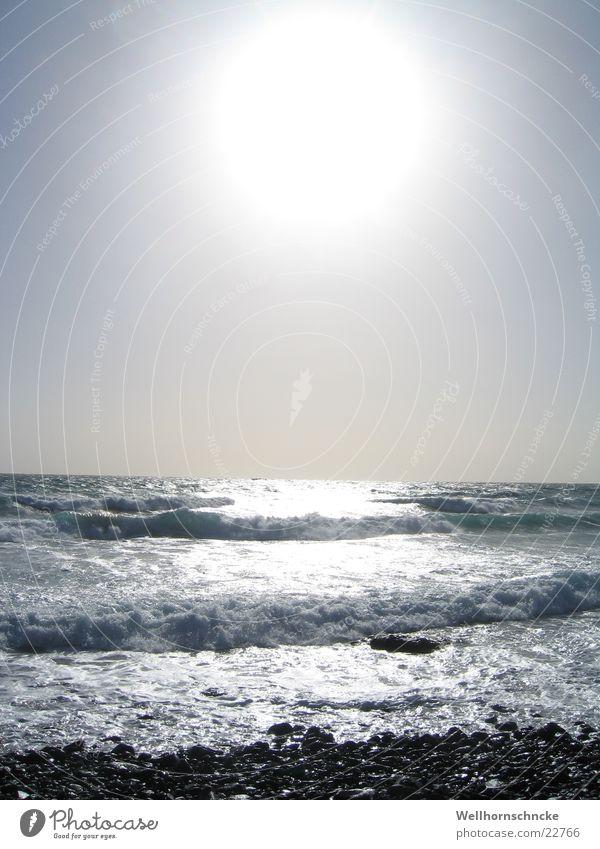 Water Sun Ocean Winter Beach Vacation & Travel Sand Waves Surf Foam Salt White crest Fuerteventura