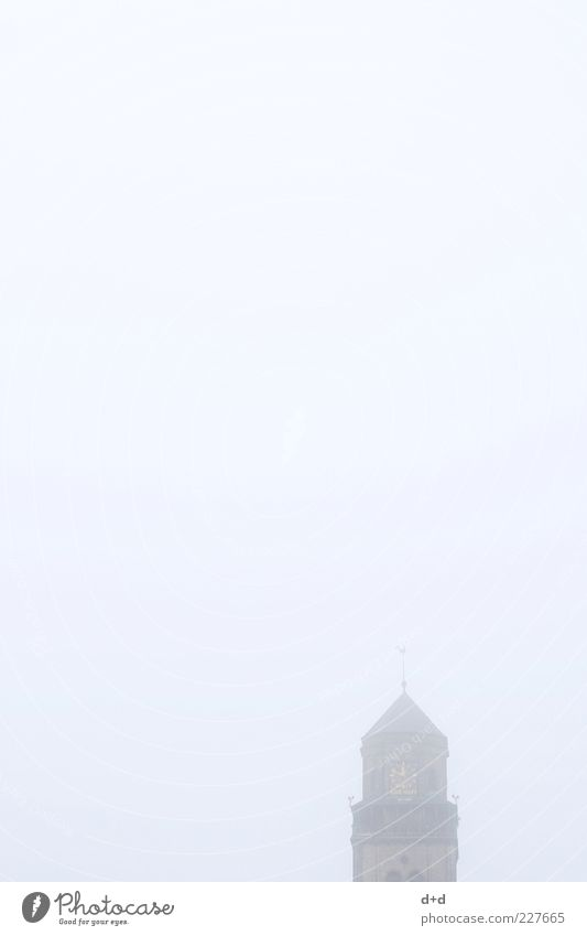 Religion and faith Fog Church Belief Dome Christianity Cathedral House of worship Church spire Clock Morning fog Shroud of fog Misty atmosphere