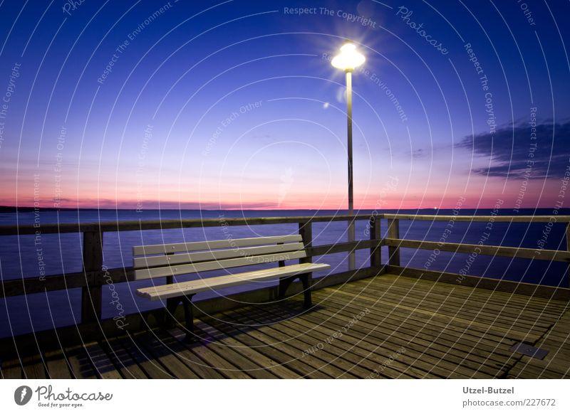pier Vacation & Travel Trip Summer Ocean Free Blue Contentment Serene Bench Sea bridge Exterior shot Deserted Copy Space top Dawn Twilight Sunrise Sunset