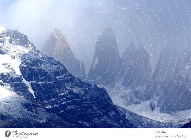 Sky Nature Clouds Snow Environment Mountain Landscape Rock Fog Esthetic Elements Exceptional Peak Glacier Steep National Park