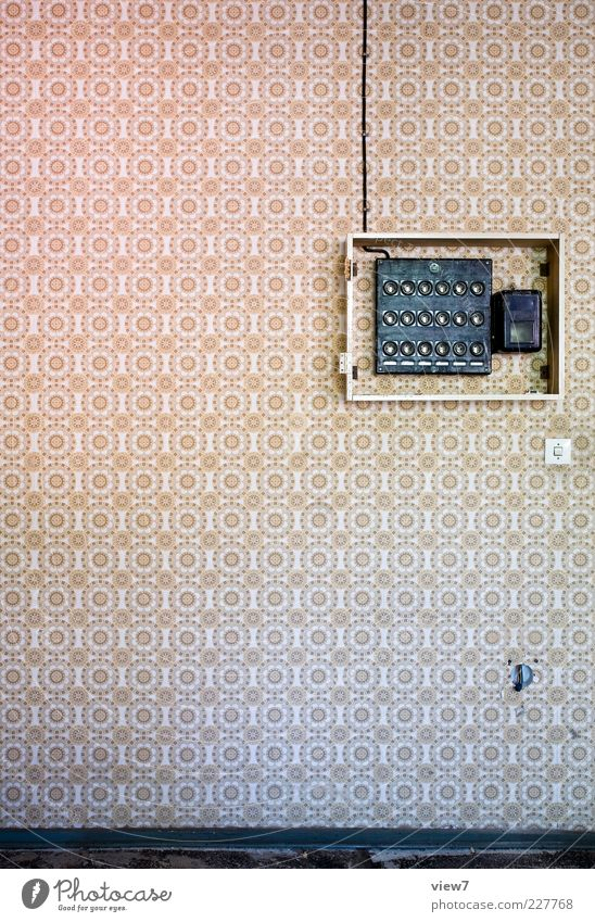Old Above Line Design Free Esthetic Energy industry Authentic Cable Stripe Retro Decoration Simple Pure Wallpaper Positive