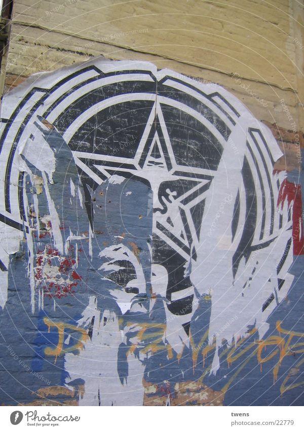 OBEY GIANT Street art Acrobat Electrical equipment Technology Obey propagandized scratch