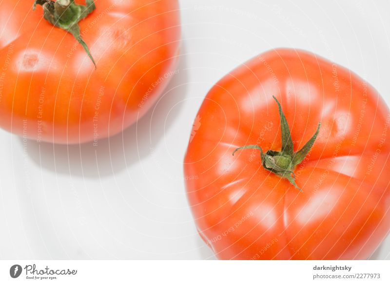 Two meat tomatoes Food Vegetable red tomatoes Nutrition Picnic Organic produce Vegetarian diet Italian Food Tomato beef tomatoes Plate Agricultural crop Exotic