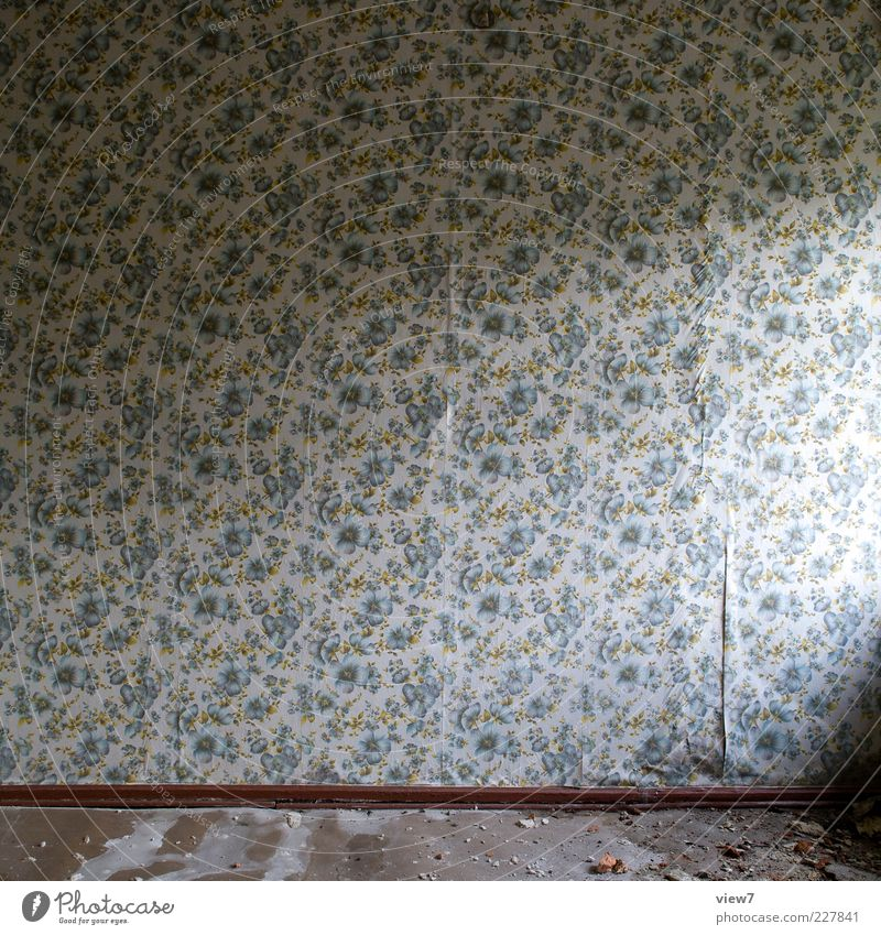 Idea :: Redecorate Wallpaper Ornament Line Stripe Old Broken Retro Gloomy Multicoloured Esthetic Loneliness End Pure Decline Past Transience Time Destruction