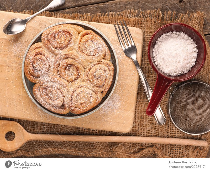 cinnamon buns Dough Baked goods Cake Dessert Delicious Sweet coffee time Gourmet healthy homemade meal nutrition pastry plate rustic slice Snack snails sugar