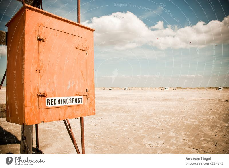talking post Vacation & Travel Far-off places Freedom Summer Summer vacation Beach Ocean Sky Clouds Horizon Beautiful weather Coast Box Cupboard Mail Wood Fresh
