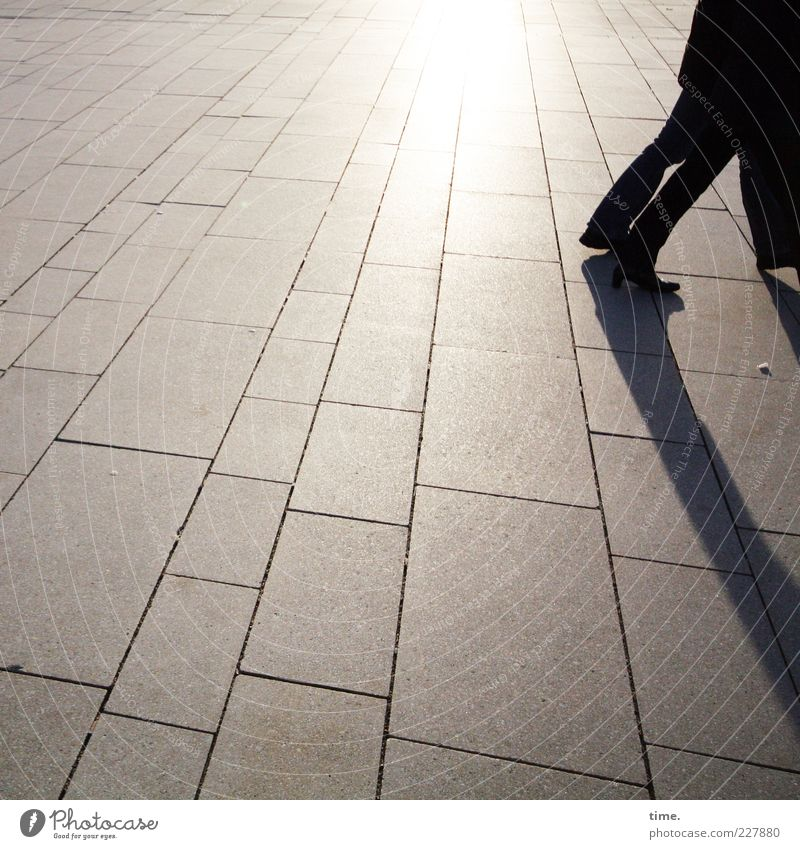 Human being Dark Freedom Movement Legs Friendship Contentment Footwear Going Trip Concrete Perspective Change Stride To go for a walk Contact