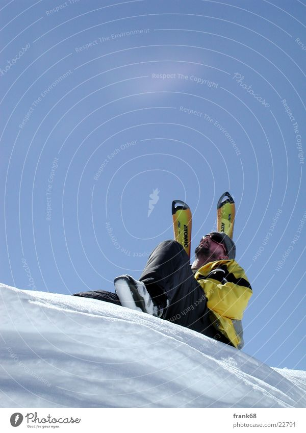 Enjoy the sun Winter Skiing Man Sun Snow To enjoy Freedom
