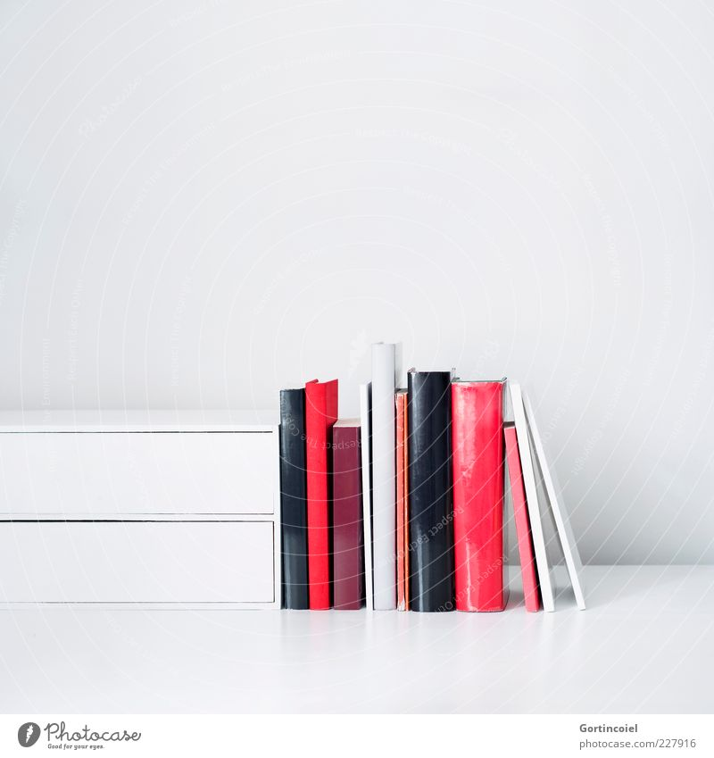 White Red Bright Book Multiple Education Print media Workplace Literature Reading matter