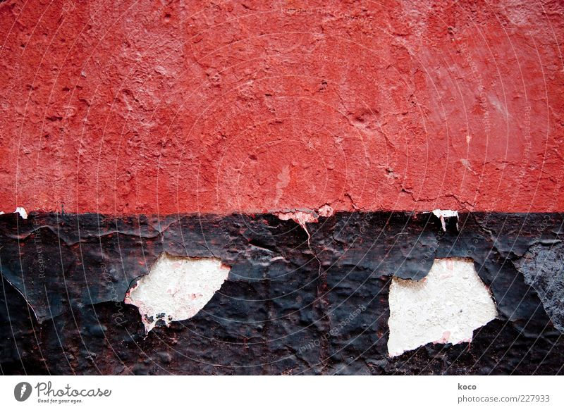 The walls of Fengdu - ROT Asia Wall (barrier) Wall (building) Facade Stone Brick Old Sharp-edged Firm Red Black White Esthetic Symmetry Transience Multicoloured