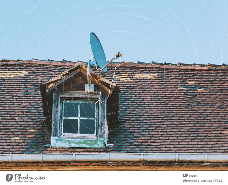 Old House (Residential Structure) Window Technology Telecommunications Future Roof Cable Information Technology TV set Advancement Antenna High-tech