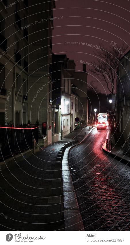 City Winter House (Residential Structure) Street Autumn Architecture Style Movement Lanes & trails Building Stone Car Lamp Line Facade Paris