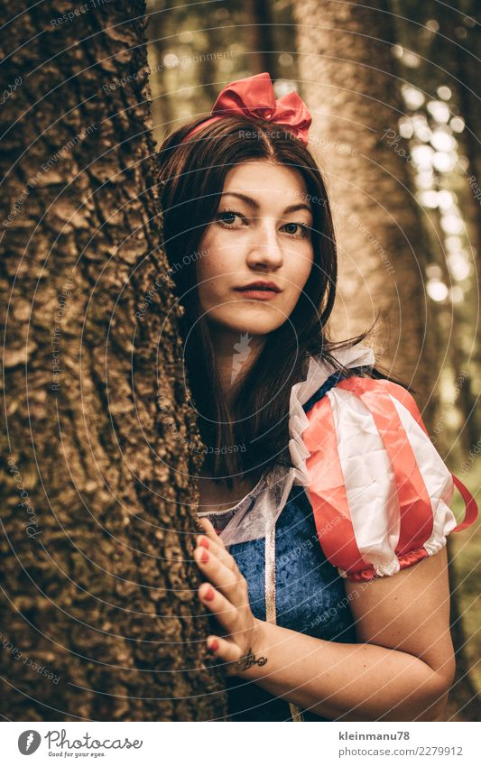 Fabulous Hair and hairstyles Skin Human being Feminine Young woman Youth (Young adults) Life Head Face Arm Hand 1 18 - 30 years Adults Nature Tree Forest Dress