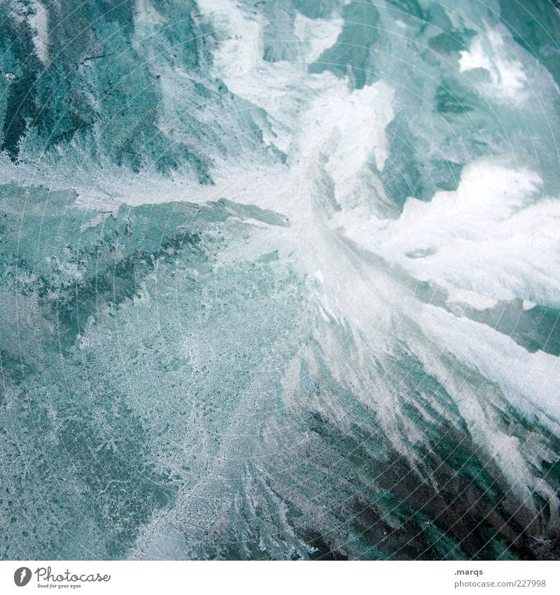 Blue White Cold Ice Glass Change Uniqueness Frost Elements Exceptional Firm Frozen Surrealism Pattern