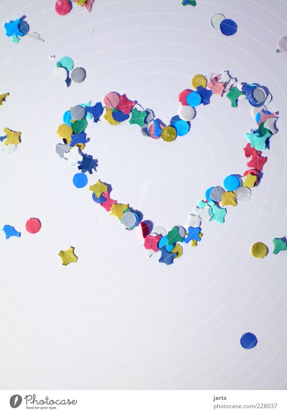 Happy Heart Lie Happiness Paper Infatuation Multicoloured Confetti Heartrending Heart-shaped