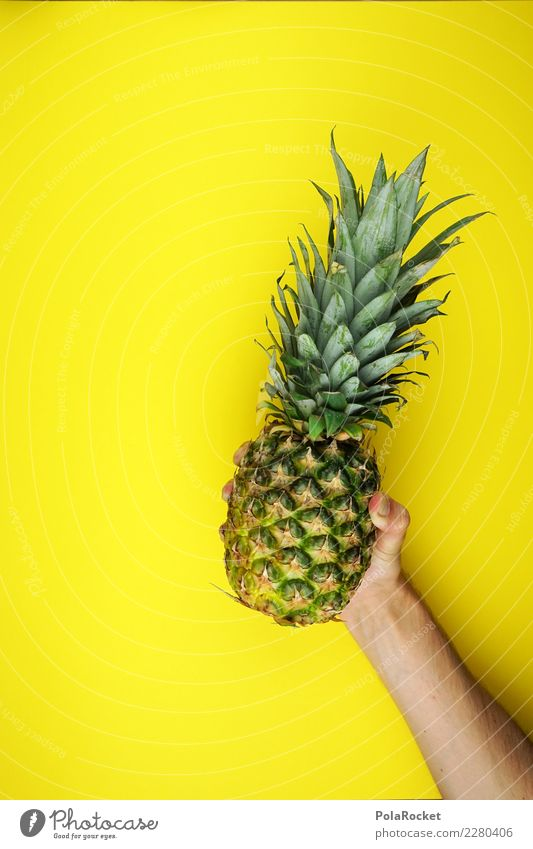 #AS# Pineapple Trophy Fitness Sports Training Eating Yellow Hand Sweet Green Fruit Healthy Healthy Eating Diet Sieg Vitamin Bomb Throw Stop Fat Thin Cure