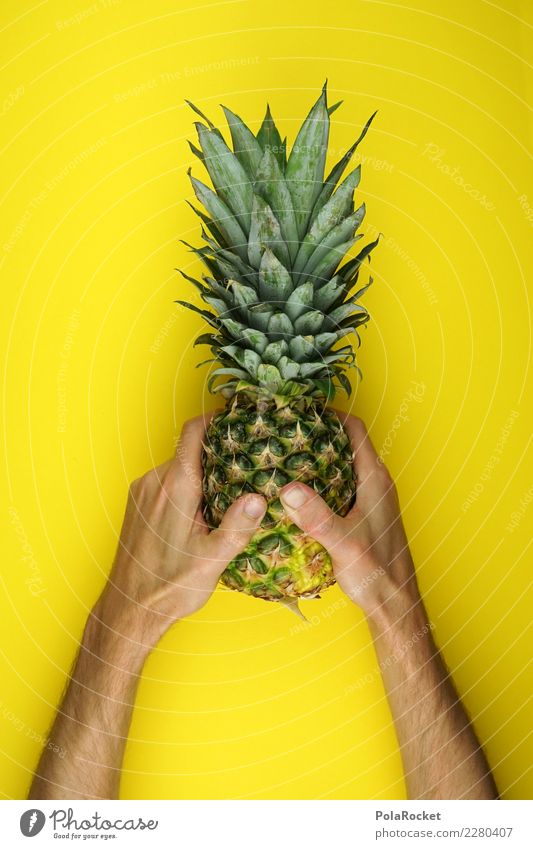 #AS# 1,000 ! Art Decadence Design Success Consolation prize Award ceremony Trophy Yellow Pineapple Ananas leaves Tropical fruits South America Logistics Exotic