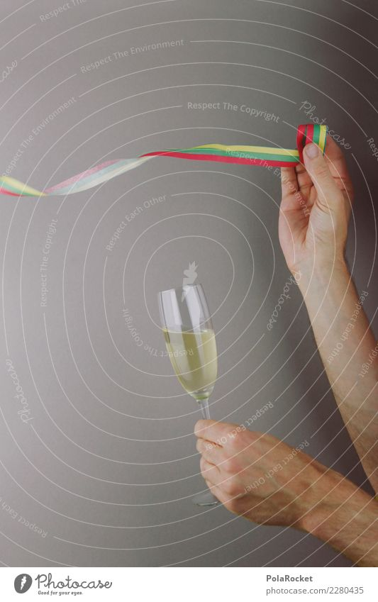 #AS# Party mood Art Esthetic Party goer Party guest Party service Party night Sparkling wine Champagne glass Champagne bubbles Paper streamers Alcoholic drinks