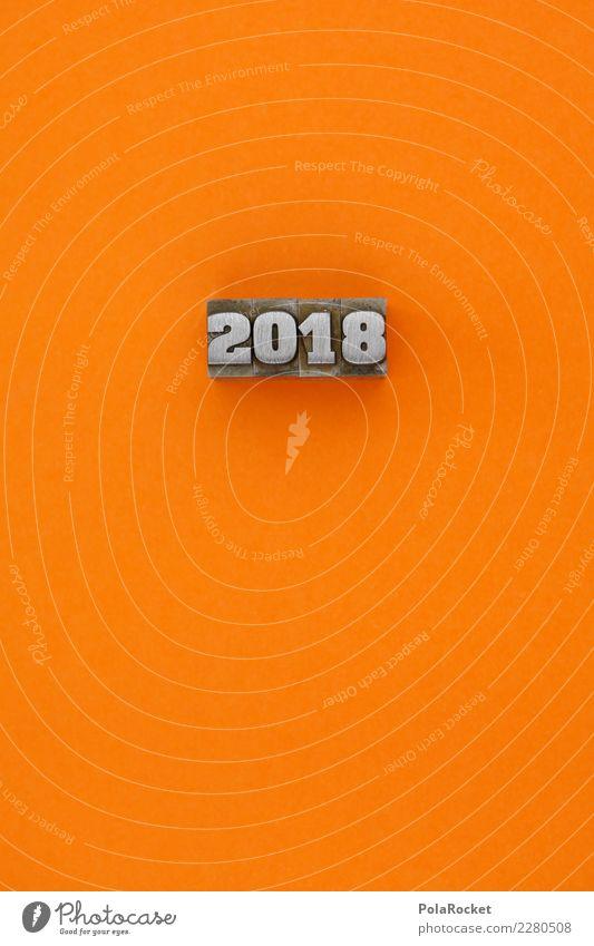 #AS# orange 2018! Art Esthetic Orange Orange-red 2017 New Year's Eve Graph Colour photo Multicoloured Interior shot Studio shot Close-up Detail Experimental