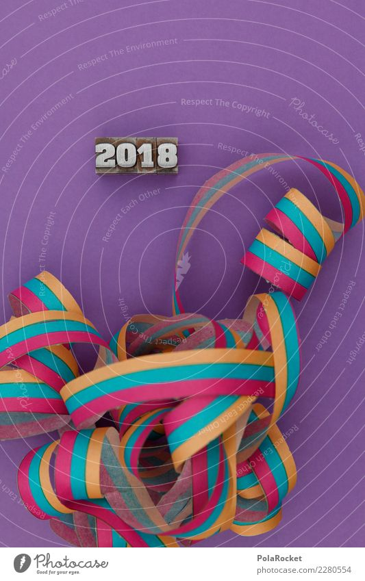 #AS# 2018! Art Esthetic New Year's Eve 2017 Paper streamers Party Party goer Party mood Party service Party night Colour photo Multicoloured Interior shot