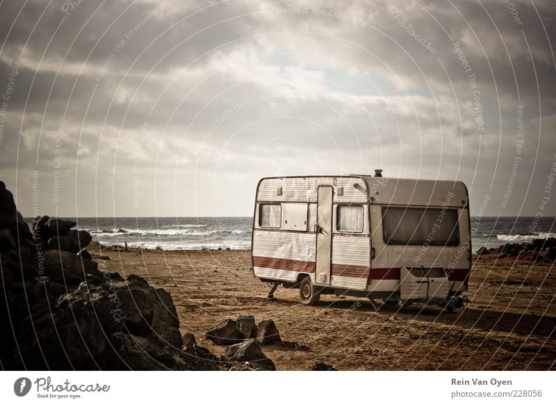 The camper Summer Beach Vacation & Travel Ocean Calm Far-off places Freedom Sand Waves Trip Hiking Island Tourism Serene Camping Sightseeing