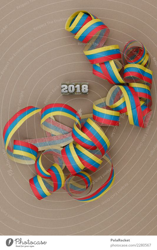 #AS# Party 2018 Art Success Year date Paper streamers Creativity Red Blue Yellow Letters (alphabet) Good intentions Calendar Beige Feasts & Celebrations Date