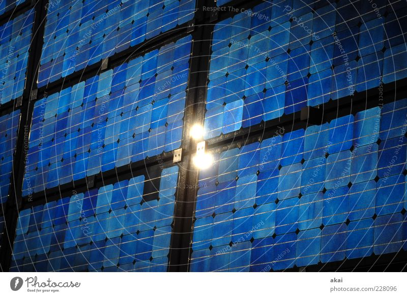 Blue Black Arrangement Growth Energy industry Academic studies Future Industry Technology Science & Research Solar Power Copy Space Sharp-edged Solar cell