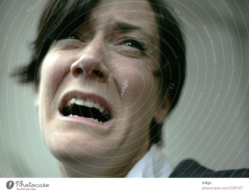 Woman Face Adults Life Emotions Sadness Moody Brown Fear Authentic Grief Anger Pain Scream Argument Distress