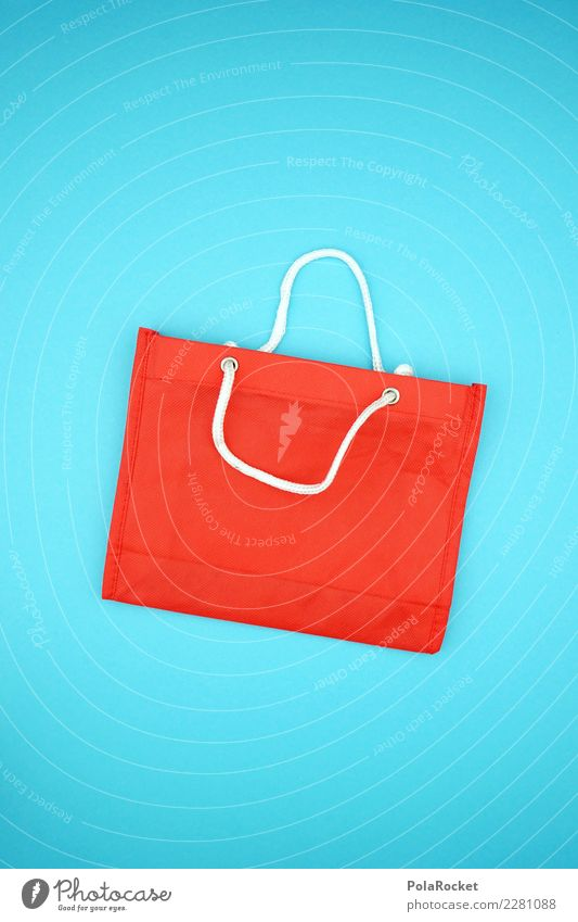 #AS# Shopping BAG II Blue Red Carry handle Shopping Trolley Shopping malls Shopping center Shopping basket Shopping bag Madness Demand Consumption Shopaholic