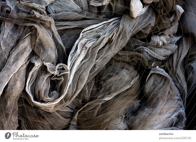 Gray Brown Cloth Net Wrinkles Chaos Muddled Textiles Heap Folds