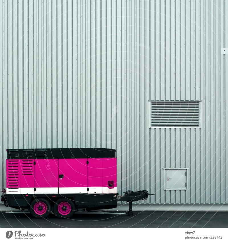 House (Residential Structure) Street Wall (building) Wall (barrier) Metal Line Elegant Pink Facade Arrangement Energy Modern Fresh Transport Esthetic