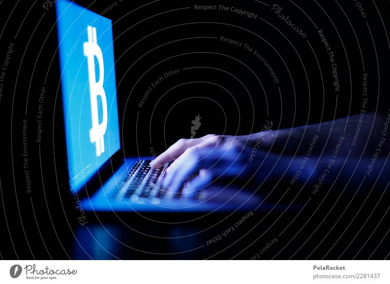 #AS# Bitcoin junkie Art Esthetic bit coin crypto cryptographic currency Computer Digital Internet Money Trade speculation Notebook Keyboard Typing Hand Hacker