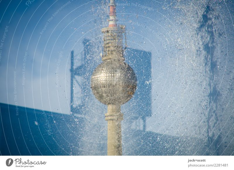 outdoor advertising Sightseeing Architecture Beautiful weather Downtown Berlin Tourist Attraction Landmark Berlin TV Tower Billboard Exceptional Free Glittering