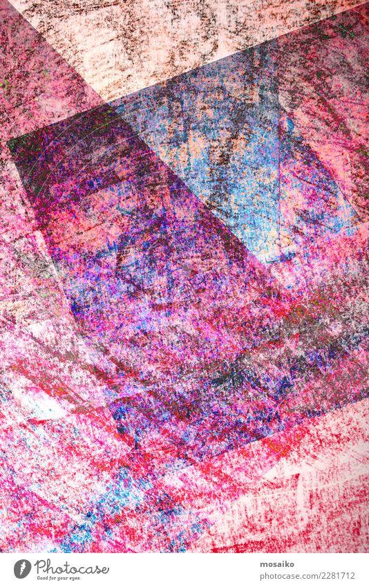 Blue Lifestyle Style Art Pink Moody Design Office Elegant Esthetic Creativity Culture Joie de vivre (Vitality) Paper Picturesque Illustration