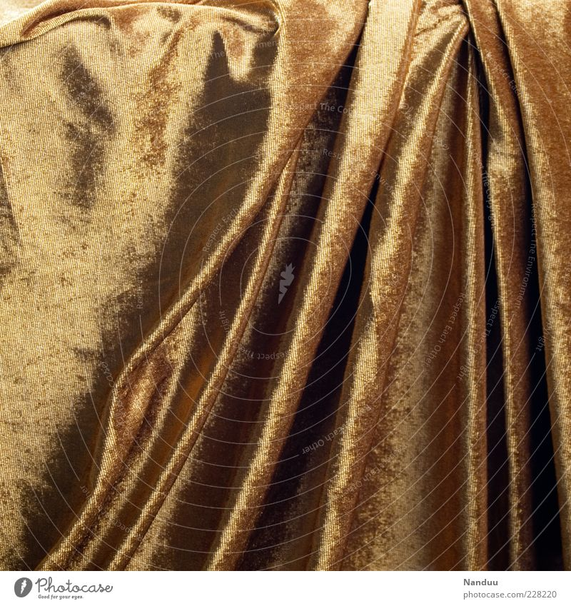 Glittering Background picture Gold Soft Drape Blanket Noble Cloth Folds Velvet Structures and shapes Velvety