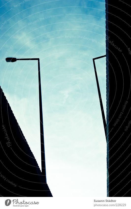 Sky Black Bridge Lantern Street lighting Complex Bend Lamp post Bridge pier Veil of cloud