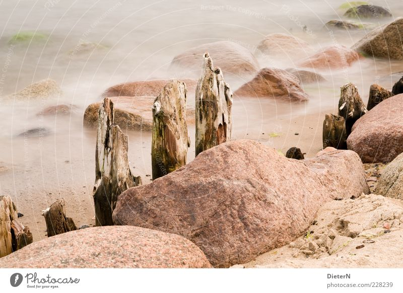 Nature Water Summer Ocean Calm Environment Sand Stone Bright Fog Climate Baltic Sea Break water
