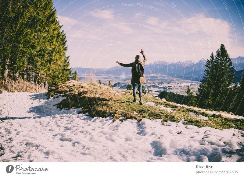 Kappeler Alp / Nesselwang (Bavaria) Joy Vacation & Travel Tourism Trip Far-off places Freedom Winter Snow Winter vacation Mountain Hiking Human being Feminine