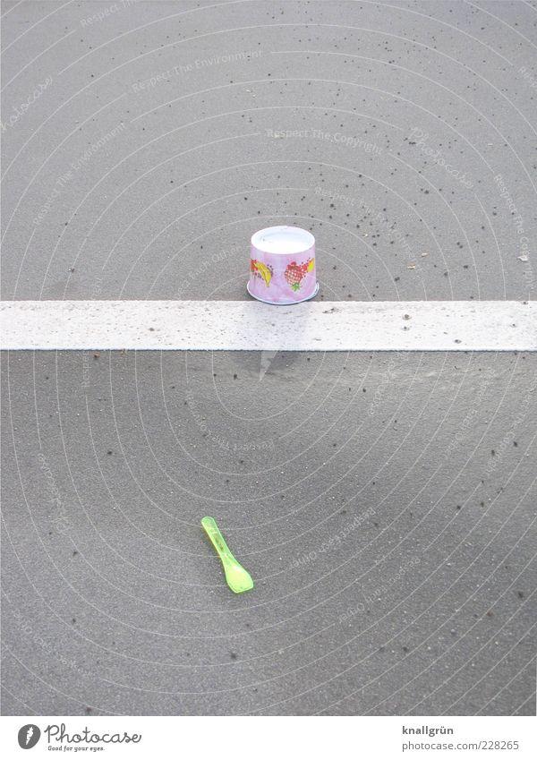 Ex and hopp Food Ice cream Mug Spoon Icecream spoon Paper cup Sundae separating strips Lie Multicoloured Gray White Lane markings Neon green throwaway society