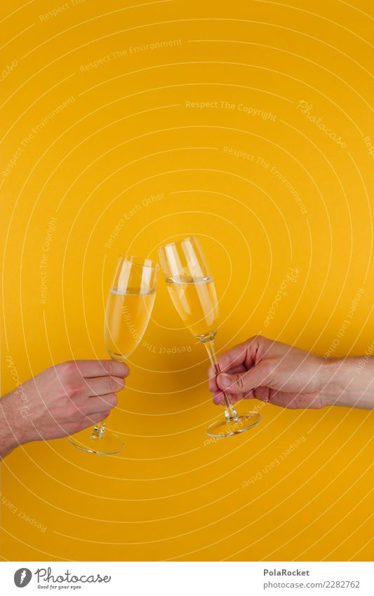 #AS# Cheers Guys Art Esthetic Glass Sparkling wine Champagne glass Champagne bubbles Toast Congratulations Feasts & Celebrations Together Happy Alcoholic drinks