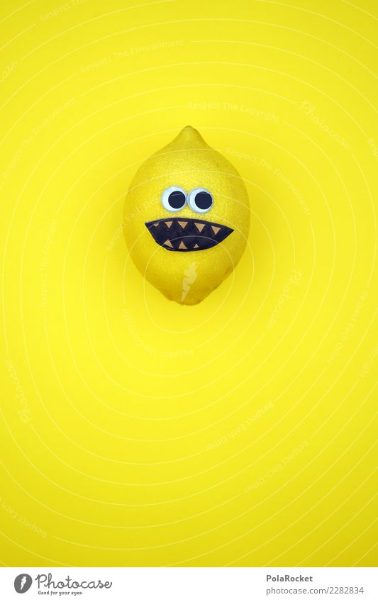 #AS# Mr. Sauer Fitness Sports Training Diet Creativity Lemon Face Experimental Funny Sour Handicraft Sense of taste Crazy Fruit Yellow Laughter Eyes Idea