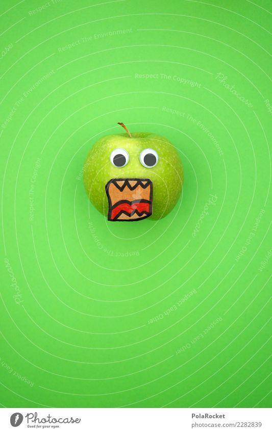 #AS# Aaaaaahhh! Art Esthetic Kitsch Apple Apple harvest Tree of knowledge Apple pie Apple plantation Apple puree Green Grass green Anger Sour Eyes Scream