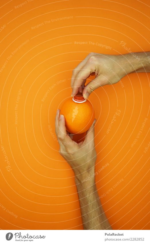 #AS# Orange direct juice Lifestyle Art Esthetic Direct Juice Juicy Bottle of juice Juice glass Undo Nature Pure Screw top Vitamin Mobility In transit Vitamin C