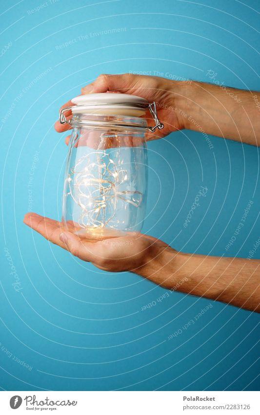 #AS# It's magic Human being Masculine Observe LED Glass Hand Stop Magic Blue Light Lockbox Wonder Chain Illuminate New Innovative Creativity Marvelous Donate