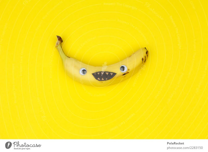 #AS# Banana Smile Art Work of art Esthetic Banana skin Banana clip Laughter Smiling Funny Absurdity Playing Childish Joy Comical The fun-loving society Yellow