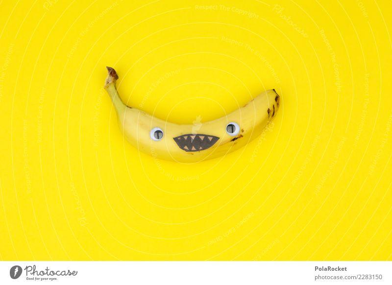 #AS# Banana Smile Art Work of art Esthetic Banana skin Banana clip Laughter Smiling Funny Absurdity Playing Childish Joy Comical The fun-loving society Yellow
