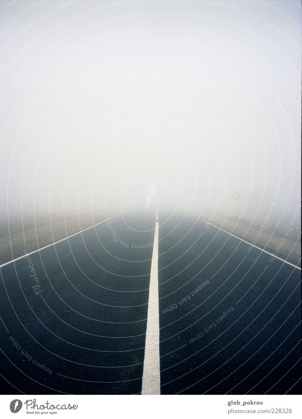 """Doc #milky road Landscape Sky Horizon Autumn Climate Weather Fog Highway Road sign Line Infinity Moody Cold Nature ga645pro Russia """"gleb pokrov rangefinder"""
