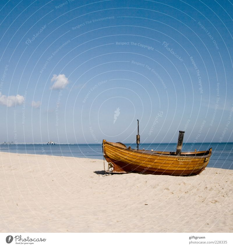 Sky Nature Old Water Summer Beach Clouds Environment Landscape Sand Coast Horizon Watercraft Elements Simple Beautiful weather