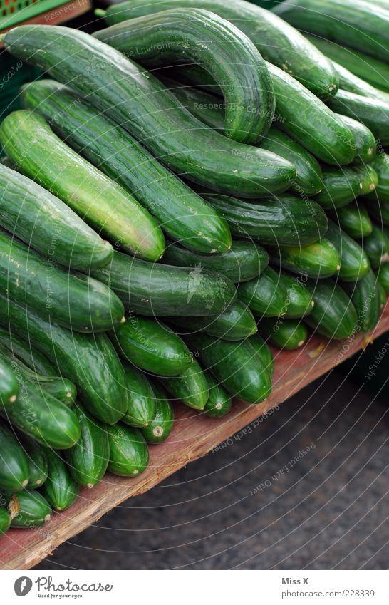 Green Food Fresh Many Vegetable Organic produce Goods Markets Cucumber Market stall Cucumber Farmer's market Vegetable market